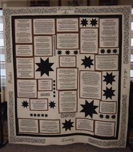 Obituary Quilt Remember Me