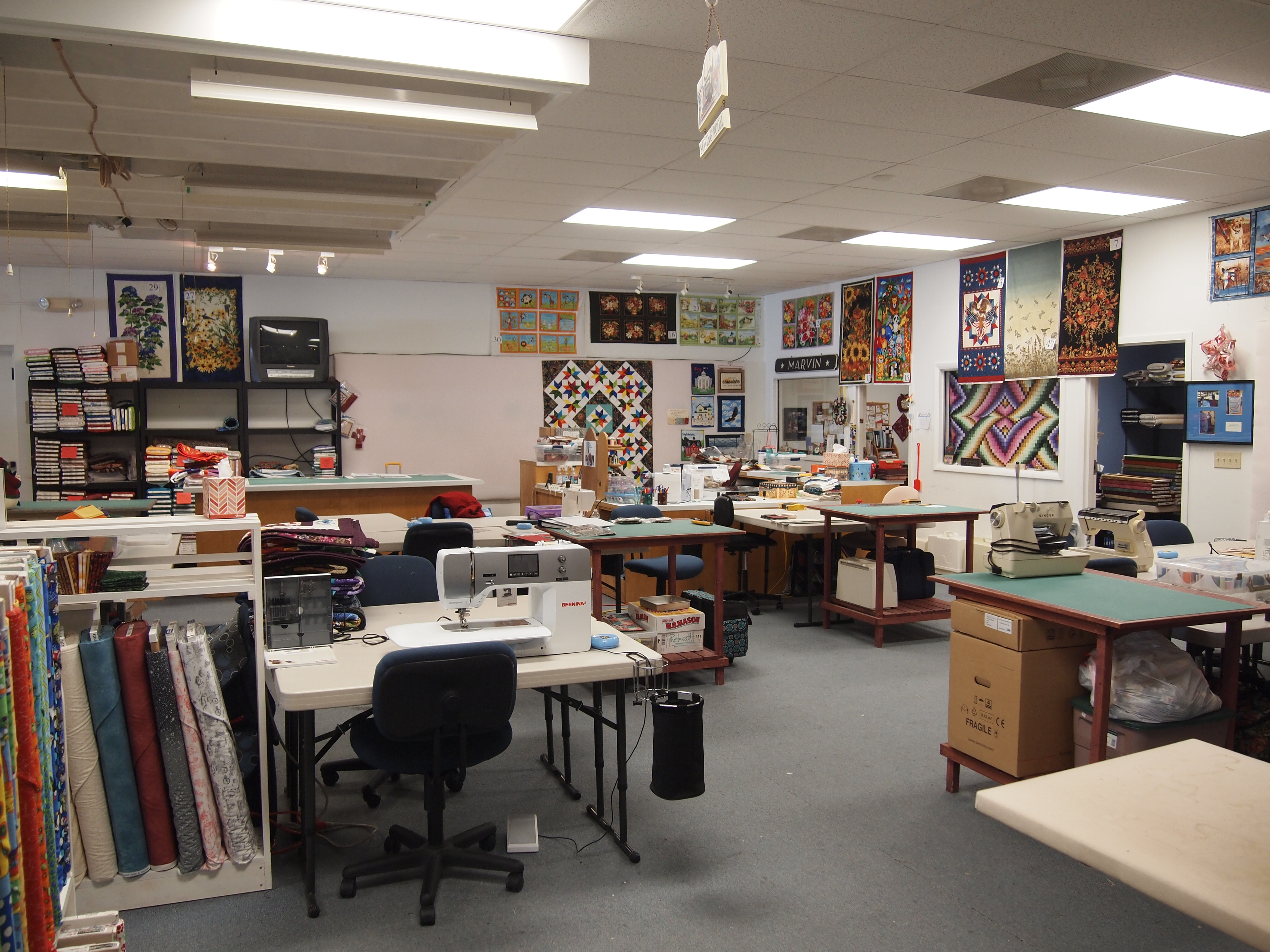 "Nice Classroom Design ~ It s ""sew nice in norwich ny if these threads could talk"