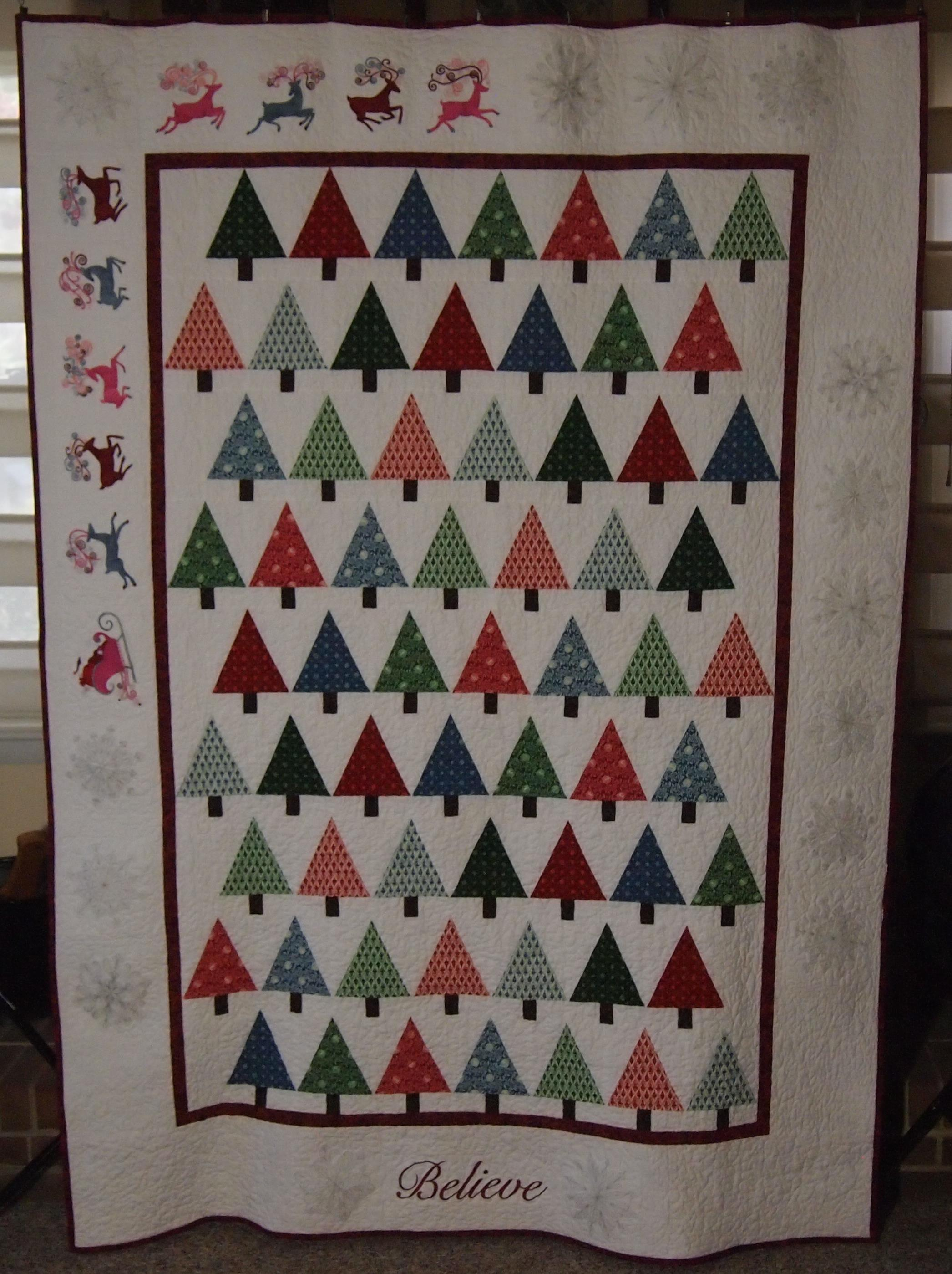 It's December! Time for Christmas Tree Quilts